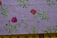"29"" Long, Red & Green Floral on Lavender Quilt Fabric, Clothworks/Zipkin, N5158"