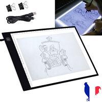 Tablette lumineuse de traçage de panneau de copie de dessin LED d'A4 USB
