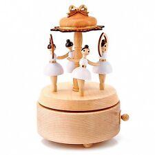 Rotating Ballet Dancer Wooden Music Box christmas gift girls ballerina art toy