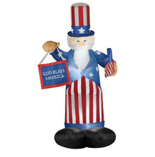 6ft. Airblown Inflatable Uncle Sam with Flag & Banner (m)