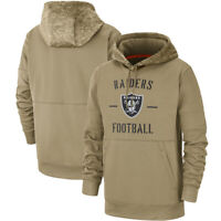 NFL Oakland Raiders Football Hoodie 2019 Salute to Service Sideline Pullover Top