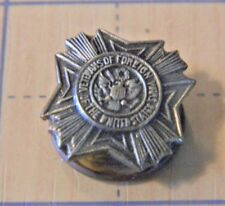 Vintage Military Veterans of foreign Wars VFW Auxillary lapel hat pin scew back