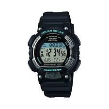 Casio Womens Stl-s300h-1acf Solar Runner Digital Display Quartz Black Watch
