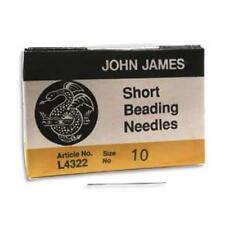 25 #10 John James SHORT English Beading Needles -  Medium SHORTS