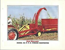 Farm Equipment Brochure - New Holland - 611 PTO Forage Harvester - c1958 (F5707)