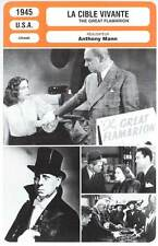 FICHE CINEMA : LA CIBLE VIVANTE - Von Stroheim,Mann 1945 - The Great Flamarion