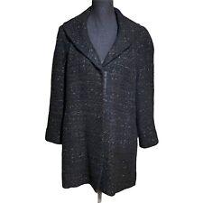 DKNY Sparkly Button Wool Blend Jacket Coat Women's M Medium
