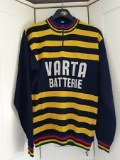 VINTAGE Castelli Varta Batterie Wool Cycle Jersey - Size - Medium / 3