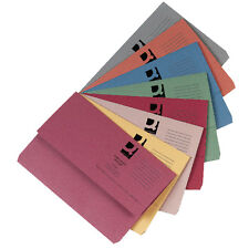 10 x 285gsm Foolscap Premium Document Wallets A4 Paper Storage Files Folders