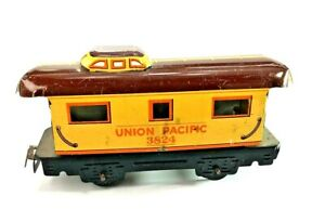 Marx Union Pacific Caboose 3824 Tin Litho Post War Lot B