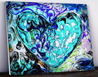 MARCO MARK - 'Blue Heart 1' • Hand Varnished Hand Signed Canvas Print