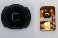 Lot of 5 NEW BLACK Home Menu Button Flex Cable Key Cap assembly for iPod Touch 4