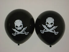 "20 x Pirate Sword Balloons Black 12"" (30cm) Latex Balloons"