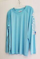 Columbia Womens Plus Size PFG Tidal Tee II Long Sleeve T Shirt Clear Blue Sz 1X