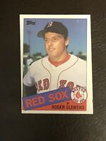 1985 Topps Roger Clemens Card #181 EX-NM Rookie RC Boston Red Sox