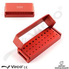 FRESA dentale PORTA 30 FORI autocalvable Endo BOX in alluminio blocco di disinfezione