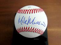 MIKE MUSSINA HOF NEW YORK YANKEES ORIOLES SIGNED AUTO MLB BASEBALL JSA BEAUTY