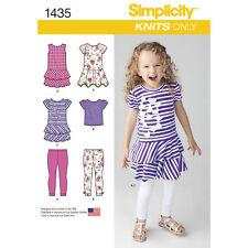 975c501cf5 simplicity Sewing Pattern 1435 Child s Dresses Top Capri Leggings Age ...