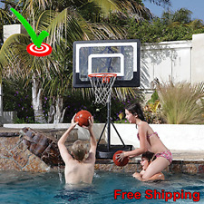 Basketball Hoops For Pools Mini Indoor Outdoor Portable Swimming Poolside System