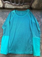 New Z By Zella women Green Striped athletic top long sleeve XS Extra Small