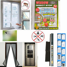 BLACK window mesh insect stop,curtains, blinds,DIY,accessories,home,office NEW