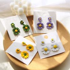 1 Pair Bohemian Women Flower Shaped Dangle Stud Earrings Fashion Jewelry