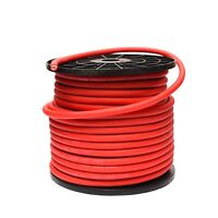 5 METRES 4 AWG GAUGE 25mm² OFC OVERSIZED RED POWER CABLE PURE COPPER WIRE
