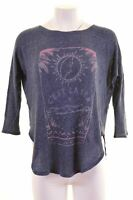 HOLLISTER Womens Top Long Sleeve Size 10 Small Blue Modal Oversized P204