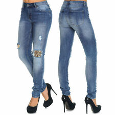 Klassische stonewashed Damen-Jeans in Übergröße