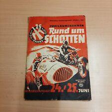 PROGRAMMHEFT RUND UM SCHOTTEN MOTORRAD AUTO RENNEN FORMEL III UND 750 CCM 1950