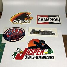 Lot of 5 Racing Decal Stickers ~ 40th Maple Grove Raceway NHRA sticker