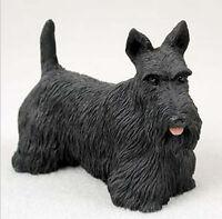 SCOTTISH TERRIER DOG Figurine Statue Hand Painted Resin Gift Pet Lovers Scottie
