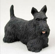 SCOTTISH TERRIER DOG Figurine Statue Hand Painted Resin Gift Pet Lovers Scottie
