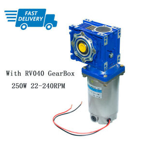 250W 24V/90V High Power Torque DC Worm Gear Motor with Gearbox Speed Reducer