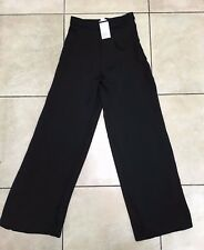 H&M Womens High Waist Jacquard Patterned Trousers Size 8 BNWT RRP £43.98 Black