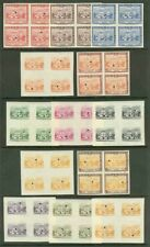 Paraguay 1954 San Roque set proof BLOCKS incl. CENTERS