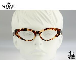 Nouvelle Vague S 152 Mariel 48, Vintage 80s slim tortoise cat eye glasses frames