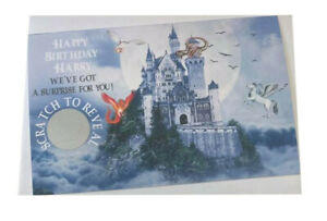 Personalised Happy Birthday Gift Harry Potter Studios Reveal Scratch Card