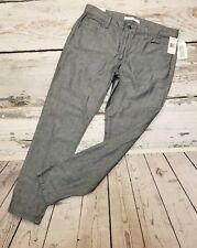 Joes Jeans Womens Pants Sz 31 XL Slim Fit Cotton Linen Blue Weekender Collection