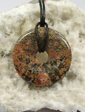 LEOPARDENJASPIS Donut - Durchmesser 4,0cm - incl. Lederband - Anhänger JASPIS