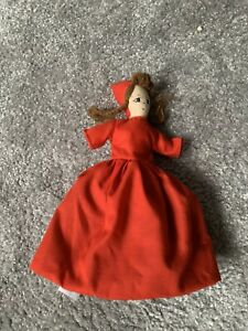 Vintage Little Red Riding Hood, Granny And Wolf Topsy Turvy Doll
