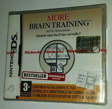 Nintendo DS MORE BRAIN del Dr. Kawashima Quanti anni ha il tuo cervello? - NUOVO
