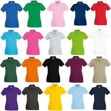 5-Pack Fruit of the Loom Women's 100% cotton.* Premium Lady-Fit Piqué Polo Shirt
