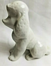 """Poodle Dog Puppy 5"""" Tall White Porcelain Figurine Statue Collectible"""