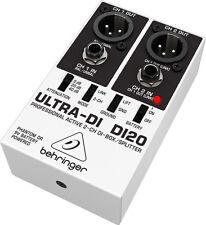 Behringer DI20 Ultra-di 2 Channel Di Box/splitter Postage