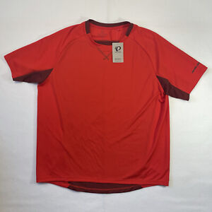 Pearl Izumi Men's 2XL Torch Red Short Sleeve Biking Shirt Back Pocket Canyon Top