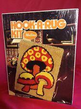 "Vintage Malina MUSHROOMS Hook a RUG Latch Hook Kit #25-5 20""x 27"" Psychadelic"