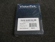 Sealed VisionTek VT 7750 Graphics Video Card GPU PCIe 1GB VTK-7750DHLD3-F37