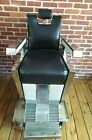 Vintage 1959 Emil J Paidar Chicago Barber Shop Chair Tattoo Salon Recliner 60s