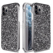 For iPhone 12 11 Pro XR XS Max 6 6s 7 8 Plus Bling Glitter Girls Cute Case Cover